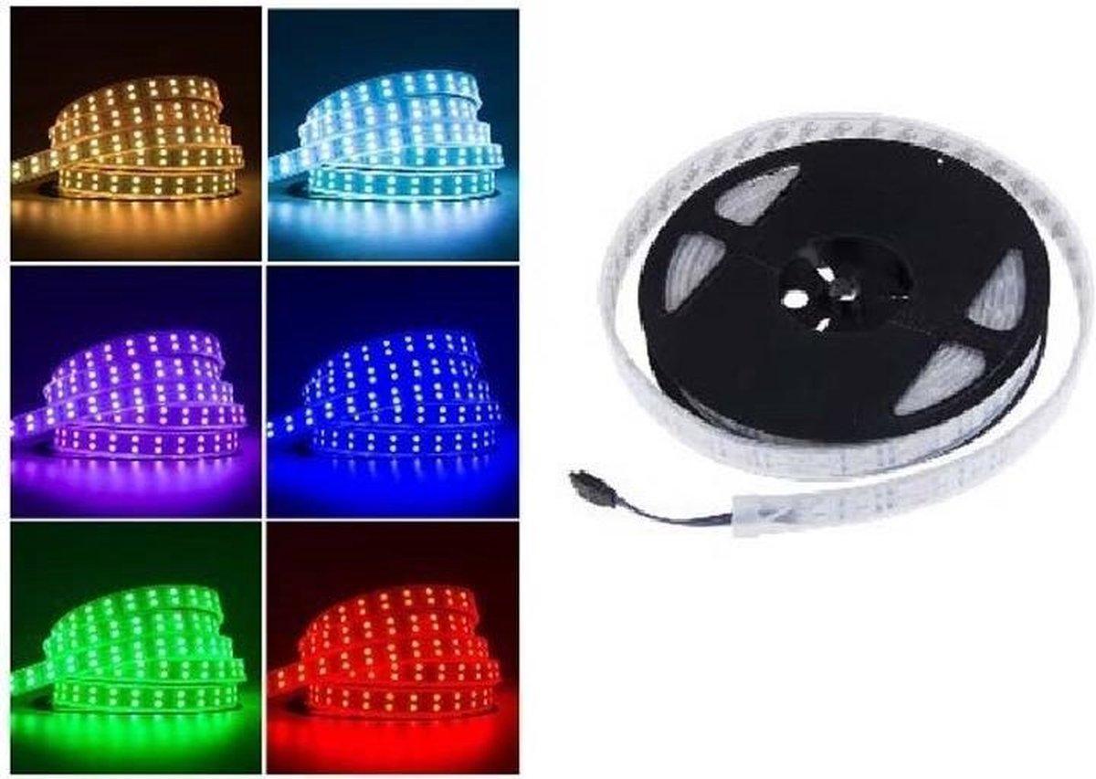 ABC-LED - Led strip - 5 m - RGB - DUBBELE rij - Non-Waterproof