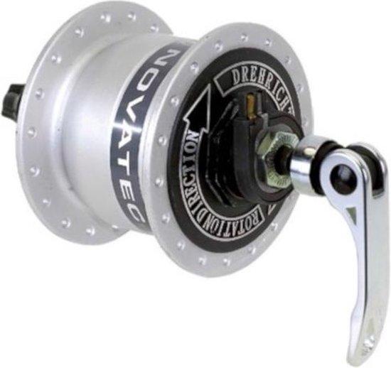 Novatec Naafdynamo 36-gaats Aluminium Met Snelspanner