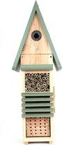 Wildlife World Insectenhotel XL & Vogelhuisje, Nestkast koolmees, Bijenhotel, Vlinderhuisje, Nestkast voor wilde bijen en nuttige insecten, Tip voor een duurzaam cadeau