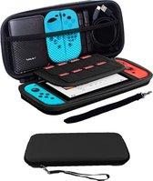 Bescherm Hoesje Geschikt voor Nintendo Switch Case Hard Cover - Zwart