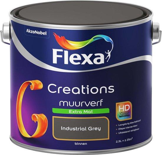 Flexa Creations - Muurverf Extra Mat - Industrial Grey - 2,5 liter - Flexa