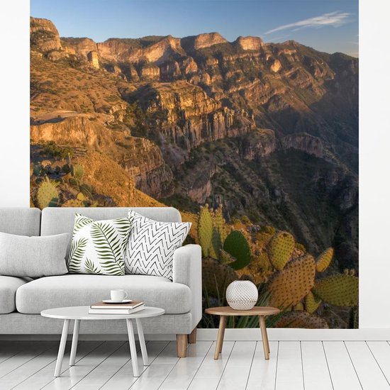 Fotobehang vinyl - De Koperkloof tijdens zonsondergang breedte 400 cm x hoogte 400 cm - Foto print op behang (in 7 formaten beschikbaar)