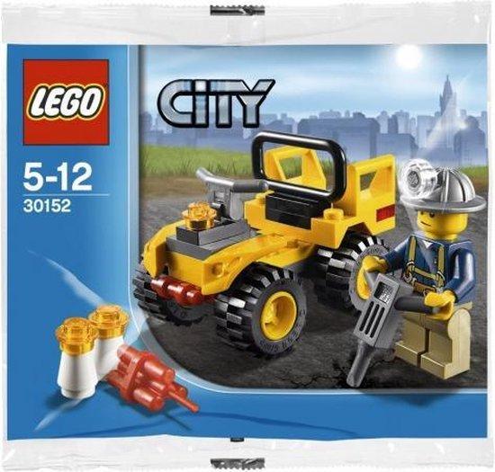 LEGO 30152 Mijnbouw Quad (Polybag) | Mijnwerker Collectors item