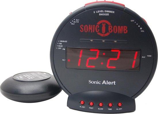 SONIC BOMB De LUIDSTE WEKKER OP AARDE!! met Digitale display en Trilschijf