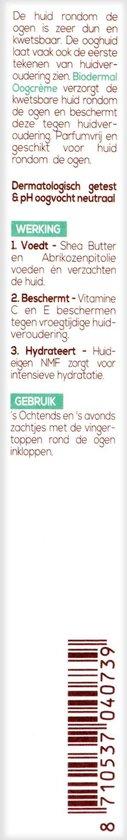 Biodermal Oogcrème -  Beschermt tegen huidveroudering - 15ml