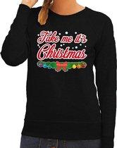 Foute kersttrui / sweater voor dames - zwart -Take Me Its Christmas S (36)