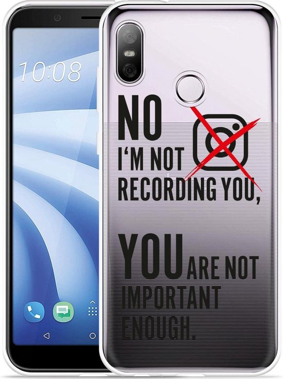 HTC U12 Life Hoesje Not recording you