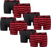Puma Boxershorts 8-pack Stripe Red-S