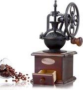 Vintage koffiemolen - hout & keramiek