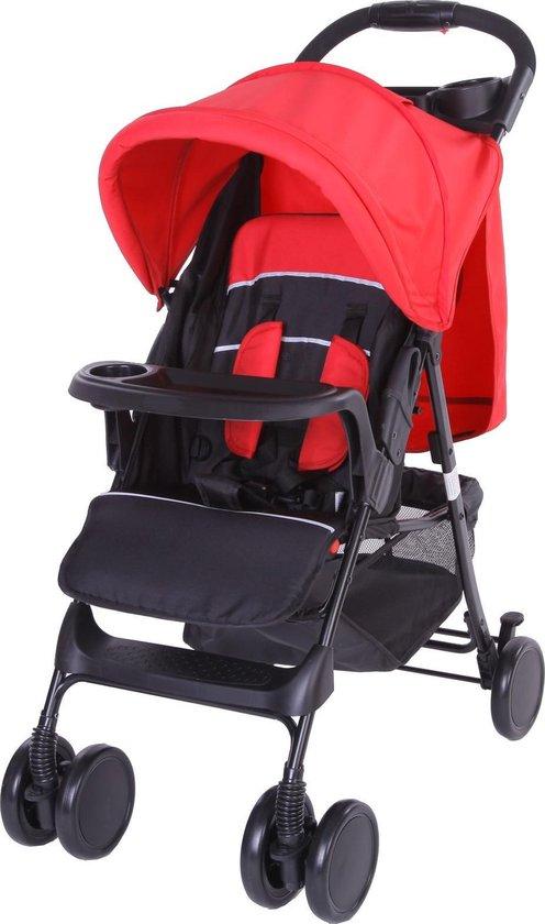 Product: Bebies First Buggy Shopper - Compact - Met Bumper- Zwart / Rood, van het merk Bebies First