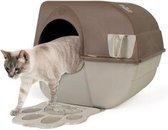 Zelfreinigende Kattenbak L + Kattenbakmat - Taupe/Bruin