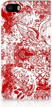 Bookcover iPhone 5s Angel Skull Red