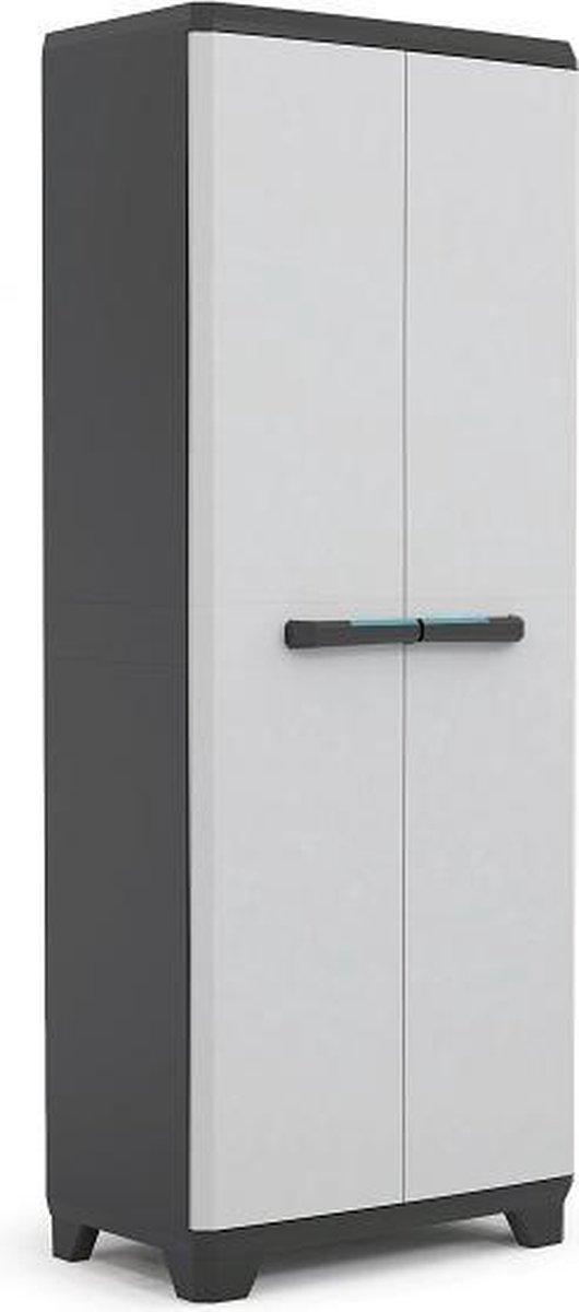 Kis Linear Opbergkast hoog - 68x173x39 cm - Grijs/Zwart