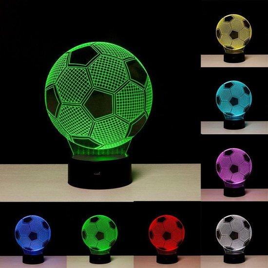 3D Nachtlamp Voetbal - 7 kleuren LED licht - Touch-bediening