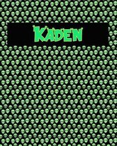 120 Page Handwriting Practice Book with Green Alien Cover Kaden