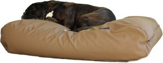 Dog's Companion® Hondenbed - XS  - 55 x 45 cm - Taupe Leather Look