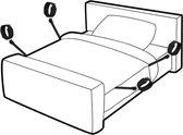 Bondage Set Handboeien en Enkelboeien Bed – Bondage Seks BDSM - Voor onder het bed door – SM Bed Restraint Straps