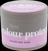 Keratine haarmasker - Keratine behandeling - Herstelt beschadigd haar en beschermt de kleur - Geschikt voor gekleurd haar - Haarverzorgingsproduct