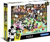 Clementoni Legpuzzel - High Quality Puzzel Collectie - Disney Mickey 90th - 1000 stukjes, puzzel volwassenen