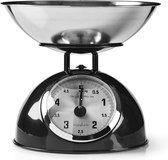 Retro Kitchen Scales   Analogue   Metal   Black