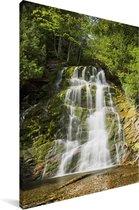 Waterval in het Nationaal park Forillon in Canada Canvas 80x120 cm - Foto print op Canvas schilderij (Wanddecoratie woonkamer / slaapkamer)