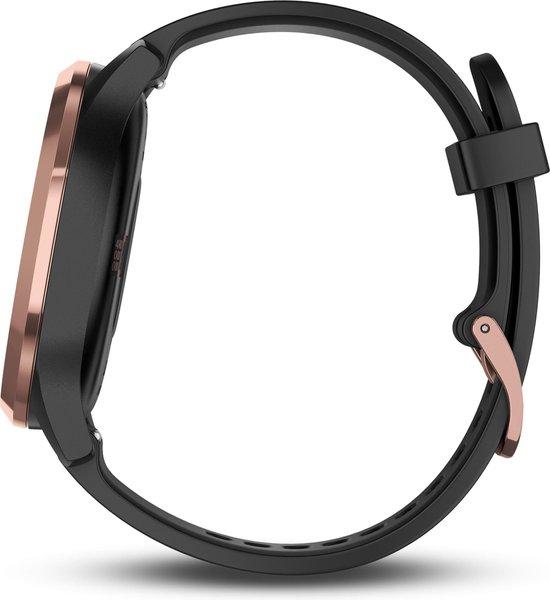Garmin Vivomove HR - Hybride Smartwatch - 43 mm - Roségoud/zwart