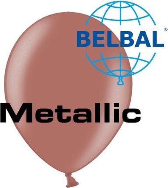 Ballonnen metallic koper B105 100 stuks
