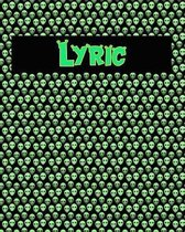 120 Page Handwriting Practice Book with Green Alien Cover Lyric