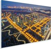 Luchtfoto van het Aziatische Incheon Plexiglas 30x20 cm - klein - Foto print op Glas (Plexiglas wanddecoratie)