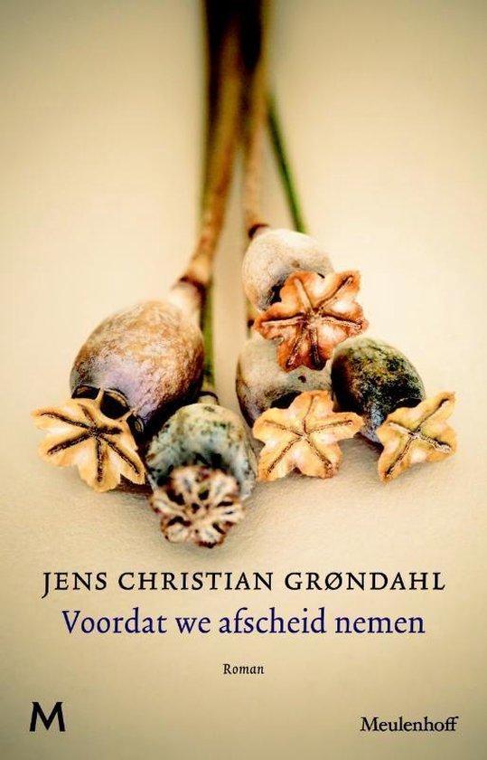 Boek cover Voordat we afscheid nemen van Jens Christian Grøndahl (Onbekend)