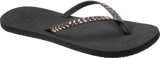 Reef Bliss Embellish Dames Slippers - Black/Bronze - Maat 40 - Reef
