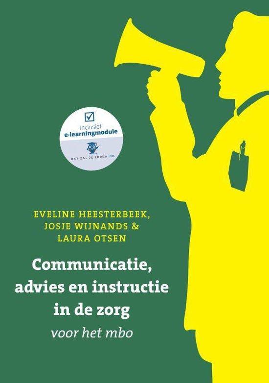 Boek cover Communicatie, advies en instructie in de zorg voor het mbo met datzaljeleren.nl van Eveline Heesterbeek (Paperback)