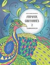 Livre de Coloriage Pour Adultes Animaux Griffonn s 2