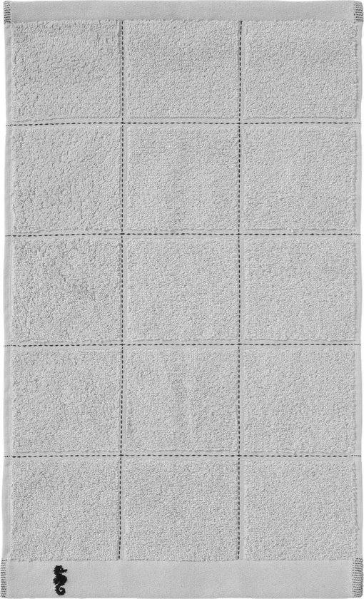 Seahorse Grid gastendoek 30 x 50 cm glacier (per 3 stuks) - Seahorse