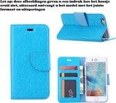 Xssive Hoesje voor Wiko Rainbow UP 4G Boek Hoesje Book Case Turquoise