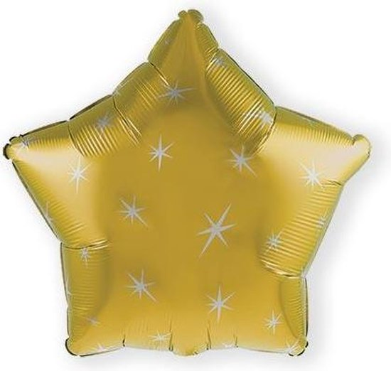 Folieballon sparkle gold (43cm)