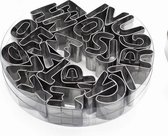 RVS Alfabet Uitsteker Set - ABC Letters Koekjesvormen / Koekvormpjes vormpjes
