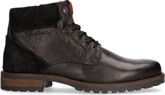 Gonzalo Zwart Leer Mannen Sneakers  - Zwart - Maat 42