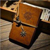 Retro Vintage Lederen Notitieboek Blanco | Dagboek | Notebook | Schetsboek | Notebook | Journal