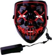 Halloween Masker - Verkleedmasker - Purge - LED Masker