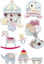 Creativ Company 27095 Papier Assorted colours 8stuk(s) sticker