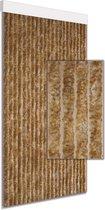 Vliegengordijn/deurgordijn kattenstaart beige gemêleerd 100x230