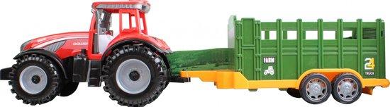 Free And Easy Tractor 24truck Aanhanger 44 Cm Groen/rood