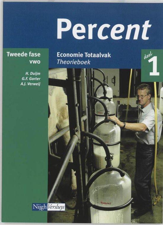 Percent / Vwo Totaalvak 1 / Deel Theorieboek - H. Duijm |