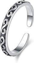 24/7 Jewelry Collection Infinity Ring Verstelbaar - Verstelbare Ring - Zilverkleurig