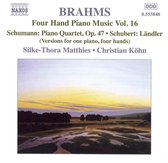 Brahms: Four-Hand Piano Music