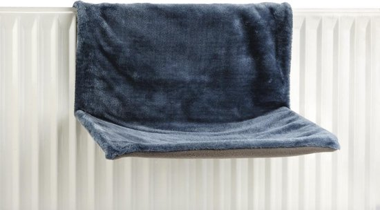 Hangmat Sleepy voor aan een radiator - Kat - Blauw