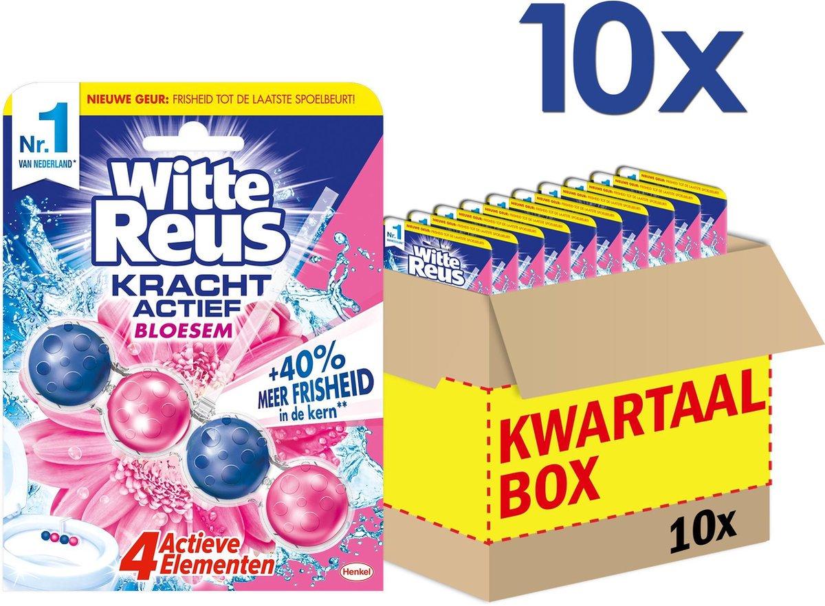Witte Reus Kracht Actief Bloesem Toiletblok - WC Blokjes Voordeelverpakking - 10 Stuks