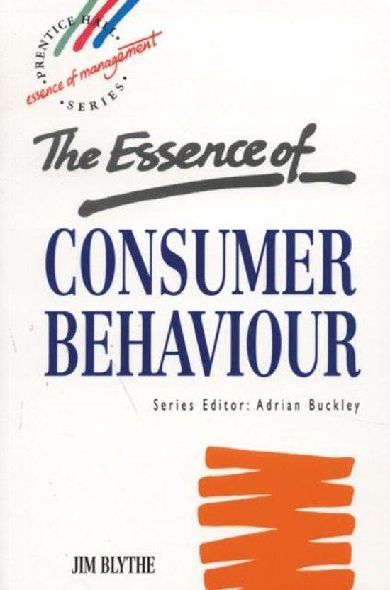 Boek cover Essence Consumer Behaviour van Jim Blythe (Paperback)