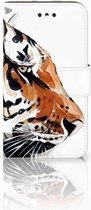 Nokia 1 Uniek Wallet Book Case Hoesje Watercolor Tiger